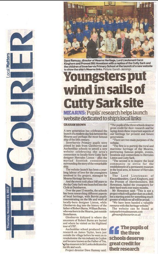 Cutty Sark news dundee courier 231117